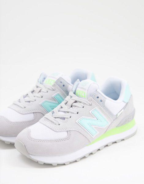 New Balance - 574 - Hellgraue Sneaker-Lila