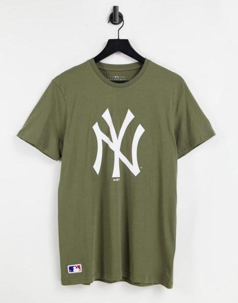 New Era - MLB New York Yankees - T-Shirt in Khaki-Grün