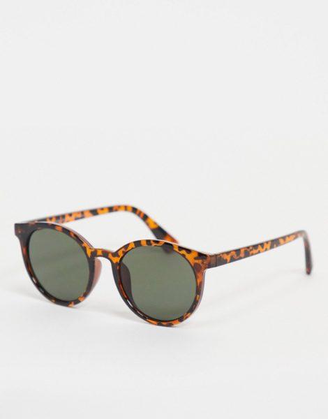 New Look - Runde Schildpatt-Sonnenbrille-Braun