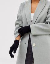 Pieces - Schwarze Touchscreen-Handschuhe