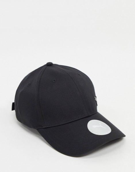Puma - Schwarze Kappe mit Katzen-Logo aus Metall