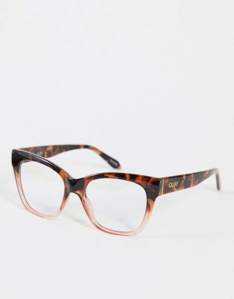 Quay - After Hours Mini - Sonnenbrille mit Blaulichtfilter in Braun für Damen