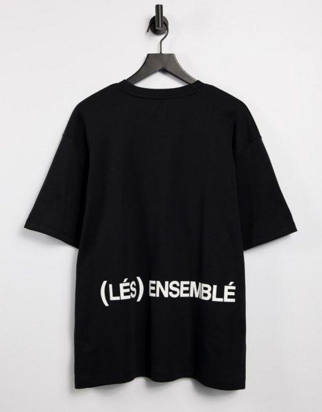 River Island - Les Ensembles - T-Shirt in Schwarz