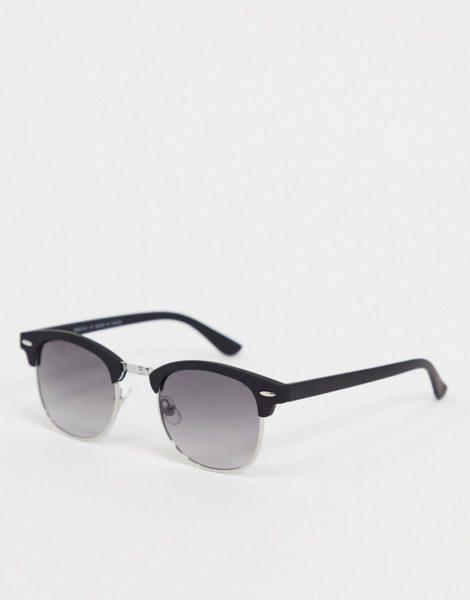 River Island - Sonnenbrille mit getönten Gläsern in Schwarz