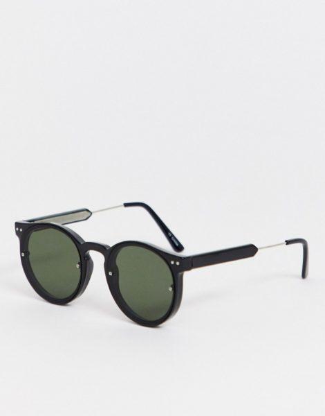 Spitfire - Post Punk - Runde Sonnenbrille in Schwarz