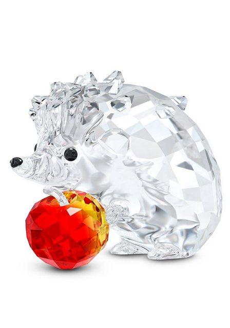 "Swarovski Dekofigur ""Igel mit Apfel, 5532203"" (1 Stück), Swarovski® Kristall mit schwarzem Emaille"