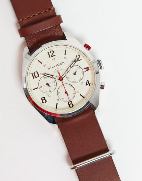 Tommy Hilfiger - Corbin - Armbanduhr mit Armband in Braun