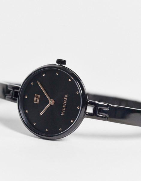 Tommy Hilfiger - Kit - Uhr mit schmalem Armband-Schwarz