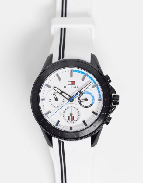Tommy Hilfiger - Silikon-Armbanduhr für Herren in Weiß, 1791862