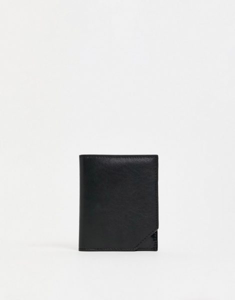 Urbancode - Brieftasche aus Leder-Schwarz