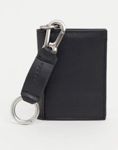 Urbancode - Brieftasche aus Leder mit abnehmbarem Schlüsselanhänger-Schwarz