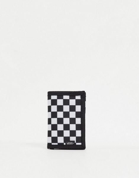 Vans - Slipped - Geldbörse in Schwarz/Weiß mit Schachbrettmuster