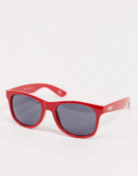 Vans - Spicoli 4 - Sonnenbrille im Schachbrettdesign in Rot
