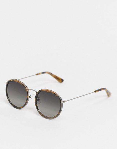 Weekday - Explore - Sonnenbrille in Schildpatt-Optik-Braun