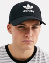 adidas Originals - adicolor - Kappe in Schwarz mit Dreiblattlogo