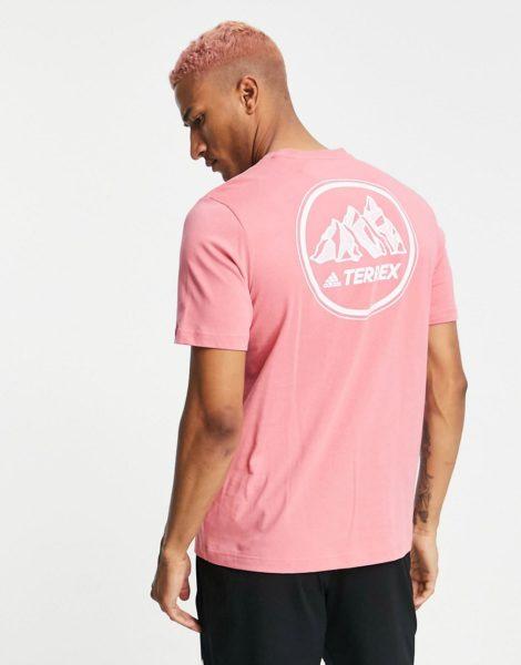adidas - Terrex Mountain GFX - T-Shirt in Rosa