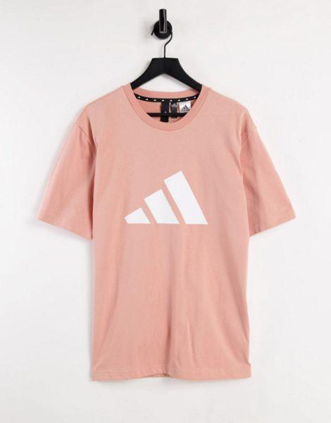 adidas Training - T-Shirt in Rosa mit großem BOS-Logo