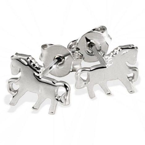 goldmaid Paar Ohrstecker, Silber 925 Pferde hochglanzpoliert
