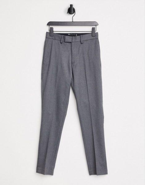 ASOS DESIGN - Elegante Hose mit engem Schnitt in Grau