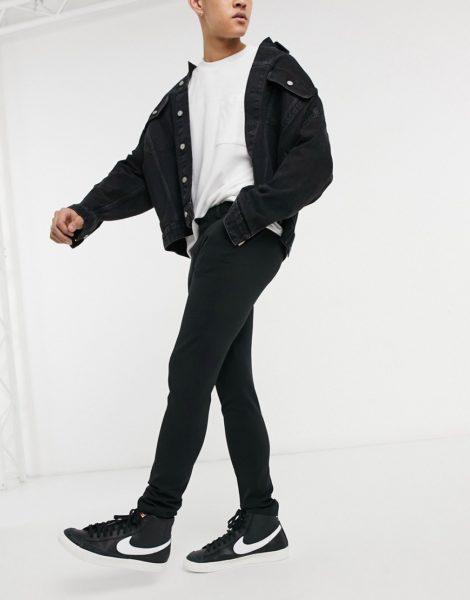 ASOS DESIGN - Extrem hautenge, elegante Hose in Schwarz