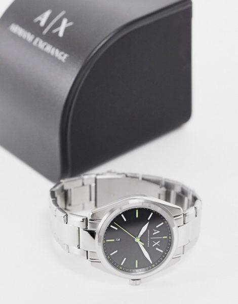 Armani Exchange - Silberfarbene Herrenarmbanduhr aus Edelstahl in Silber, AX2856
