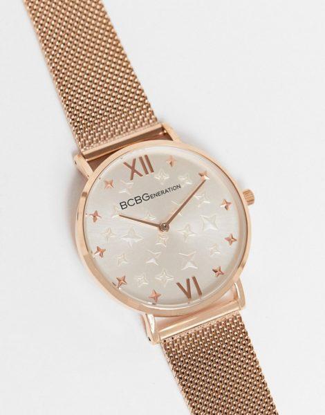 BCBG - Generation - Uhr mit gemustertem Armband-Gold