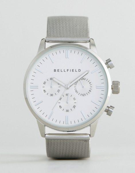 Bellfield - Uhr mit Zifferblatt und silbernem Armband
