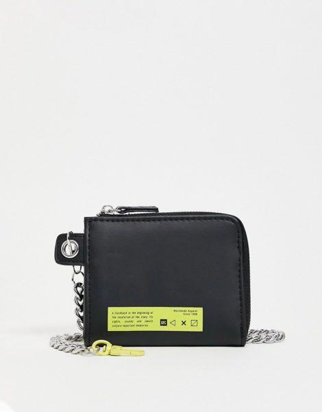 Bershka - Schwarze Brieftasche