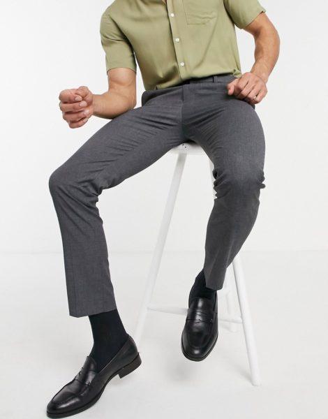 Burton Menswear - Elegante, enge Hose in Grau