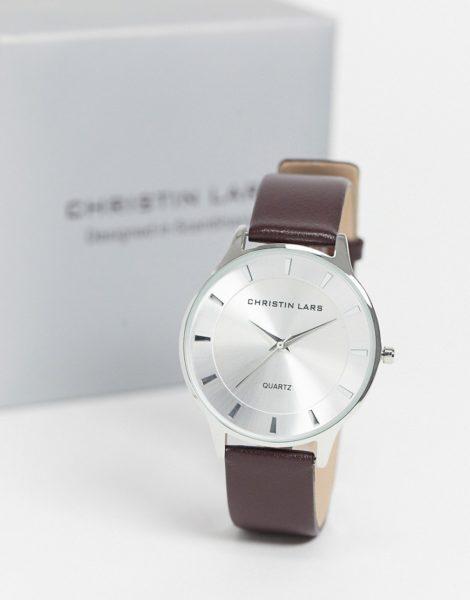 Christin Lars - Uhr mit Lederarmband-Silber