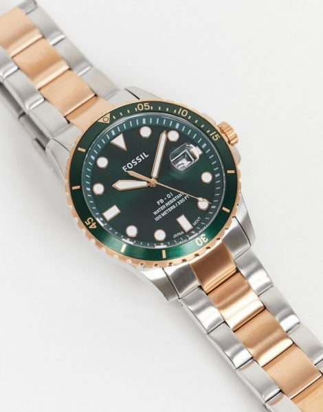 Fossil - FS 5743 - Herren-Armbanduhr aus verschiedenen Metallen-Mehrfarbig