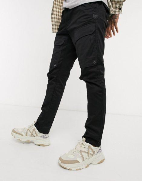 G-Star - Schmale Cargo-Hose mit Tasche vorn in Schwarz
