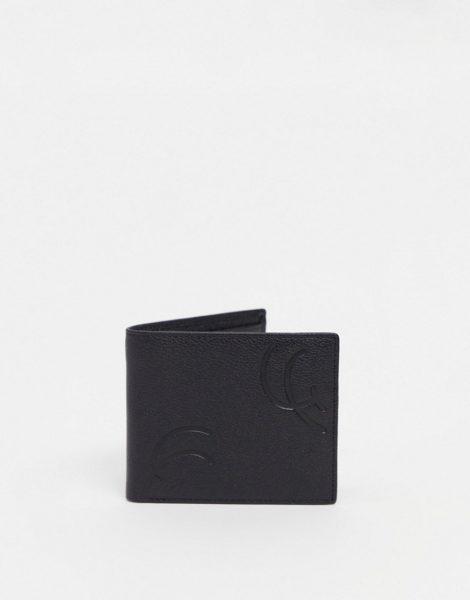 Gianni Feraud - Geprägte Ledergeldbörse zum Falten-Schwarz