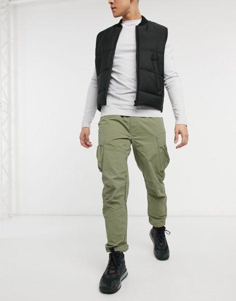 Marshall Artist - Funktions-Cargo-Hose aus Polyamid-Baumwollgewebe in Khaki-Grün