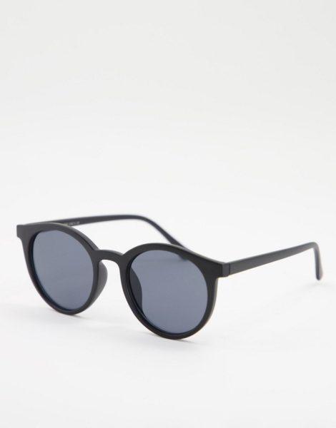 Only & Sons - Runde Sonnenbrille in Schwarz