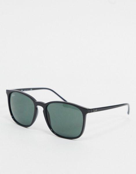 Ray-Ban - Runde Sonnenbrille in Schwarz, ORB4387