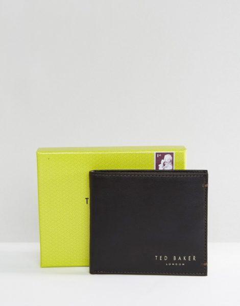 Ted Baker - Harvys - Ledergeldbörse mit Schein- und Münzfächern-Braun