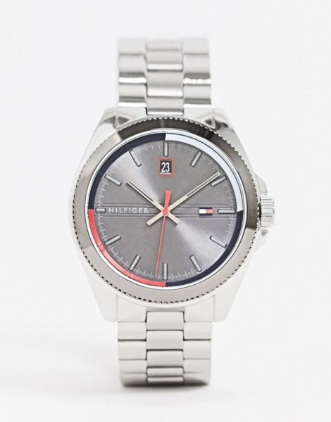 Tommy Hilfiger - Sunray 1791684 - Silberfarbene Armbanduhr