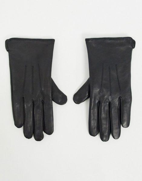Barney's Originals - Schwarz Handschuhe aus echtem Leder mit Touchscreen-Funktion