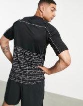 Bolongaro Trevor - Sport Norco - T-Shirt mit geometrischem Muster und reflektierender Borte-Schwarz