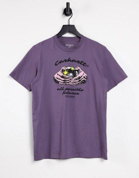 Carhartt WIP - T-Shirt in Lila mit Fortune-Print