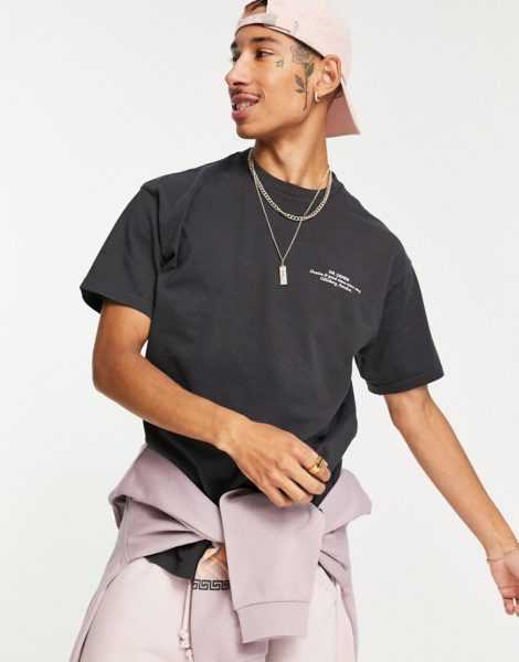 Dr Denim - Trooper - T-Shirt in Schwarz