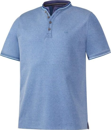 Franco Bettoni Kurzarmshirt sportlich-elegantes Serafino-Shirt