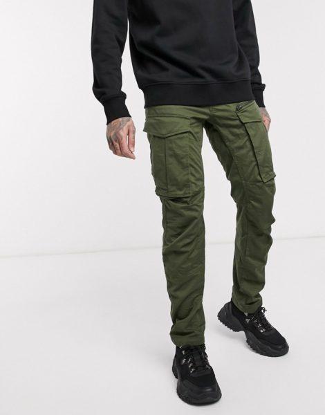 G-Star - Rovic 3D - Hose in regulärer Passform mit schmal zulaufendem Bein und Reißverschluss in Khaki-Grün