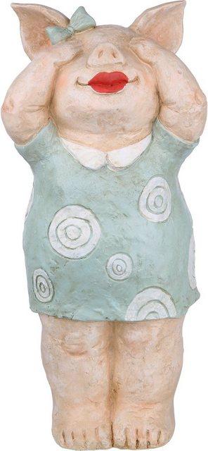"""GILDE Dekofigur """"Schwein Rosalie Nichts sehen"""" (1 Stück), Dekoobjekt, Tierfigur, Höhe 33 cm, Wohnzimmer"""