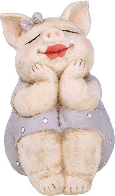 """GILDE Dekofigur """"Schwein Rosalie träumend"""" (1 Stück), Dekoobjekt, Tierfigur, Höhe 18,5 cm, Wohnzimmer"""