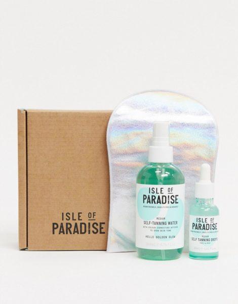Isle of Paradise - Selbstbräunertropfen & -wasser im Set, Medium, 25% Rabatt-Keine Farbe