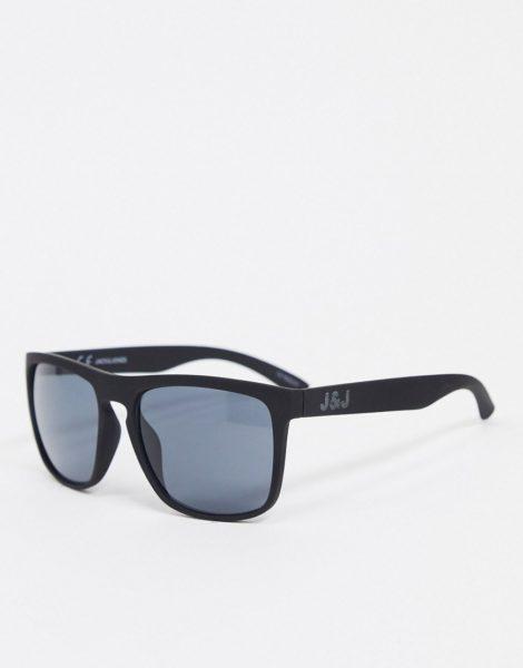Jack & Jones - Eckige Sonnenbrille in Schwarz