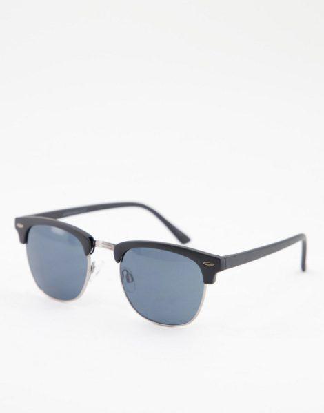 Jack & Jones - Retro-Sonnenbrille in Schwarz