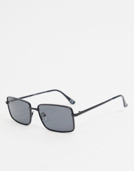 Jeepers Peepers - Eckige Sonnenbrille in Schwarz